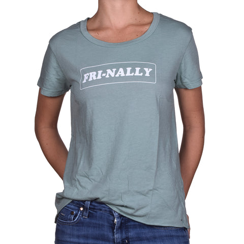 Good hYOUman Women's Dakota Boxy Tee Fri-nally Jade Desert Wash