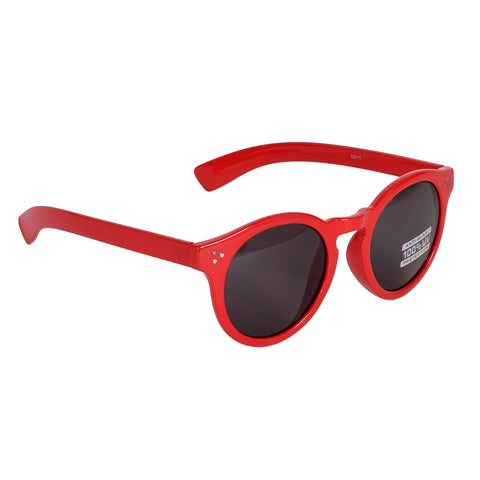 Blue Gem Sunglasses Gloss Red Frames w/Smoke Lens
