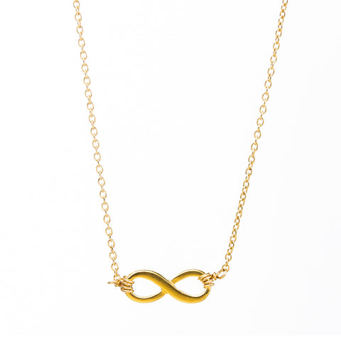 Dogeared Infinite Love Necklace Gold Dipped 16""