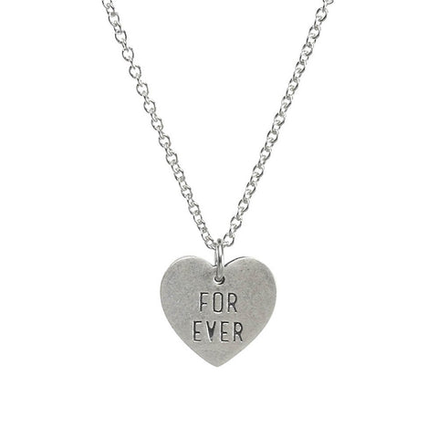 Dogeared Forever & Ever Necklace Sterling Silver 16""