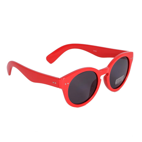 Blue Gem Sunglasses Red Frames w/Smoke Lens