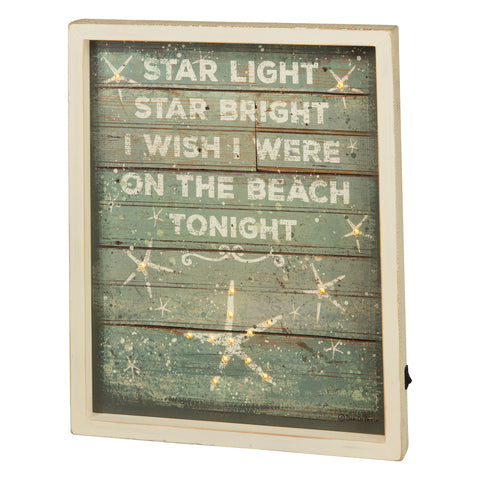 Primitives By Kathy Star Light Start Bright Light Up Wood Sign