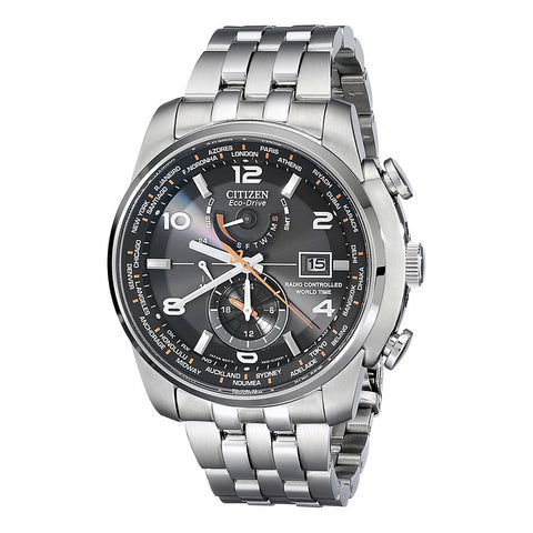 Citizen Men's Eco-DRV World Time A-T Stainless Steel Watch