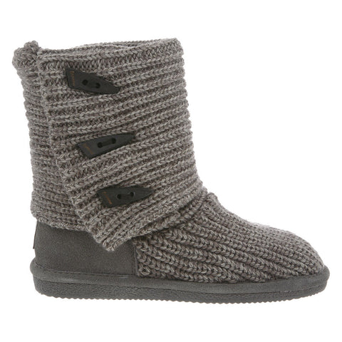 Bearpaw Women's Knit Tall Gray