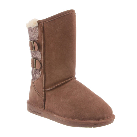 BearPaw Women's Boshie Boot Taupe Suede Size 10
