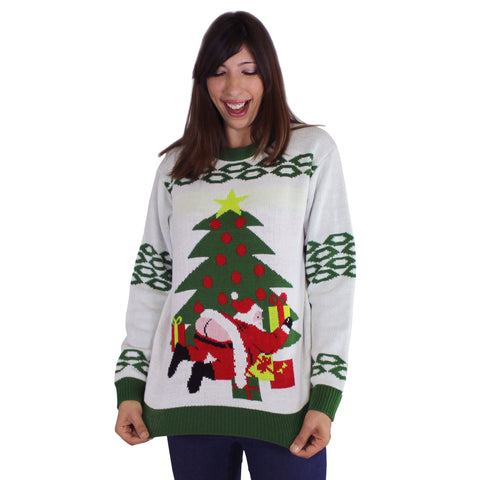 FunQi Gifts Butt Crack Santa Tacky Sweater