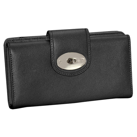 Buxton Superwallets Jackie Go To Superwallet Black