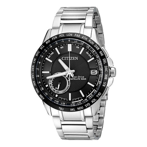 Citizen Men's  Satellite Wave Analog Display Japanese Quartz Silver Watch
