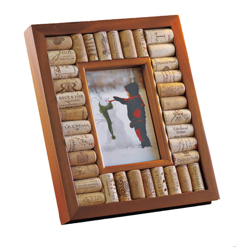 Wine Enthusiast Wine Cork Picture Frame Kit 5x7 Photo