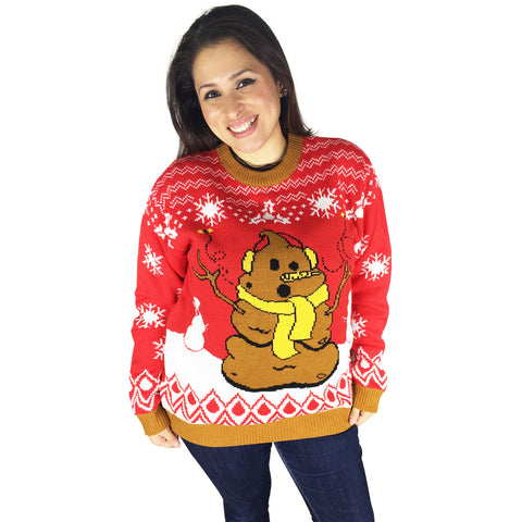 FunQi Gifts Crappy Holidays Tacky Sweater