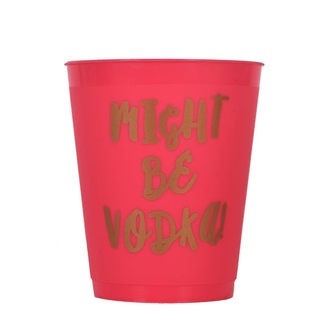 Slant Collections Frost Flex Cup - Might Be Vodka 16oz 8 Count