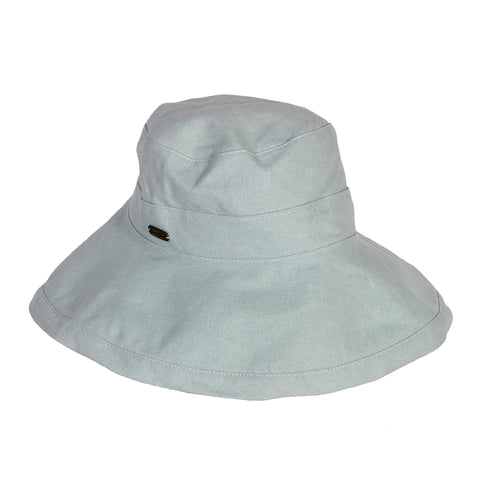 "Sun 'N' Sand Women's Breeze Fabric Packable Sizable Hat Brim 3"" Pistachio"