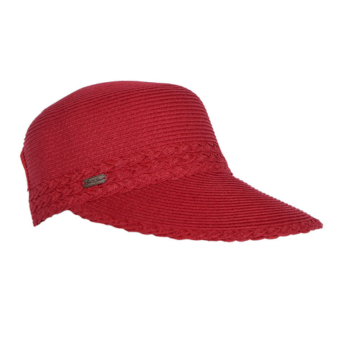"Sun N Sand Women's 4"" Backless Hat Red"