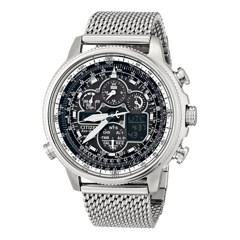 Citizen Men's Eco Drive Navihawk AT Watch w/ Stainless Steel Mesh Band