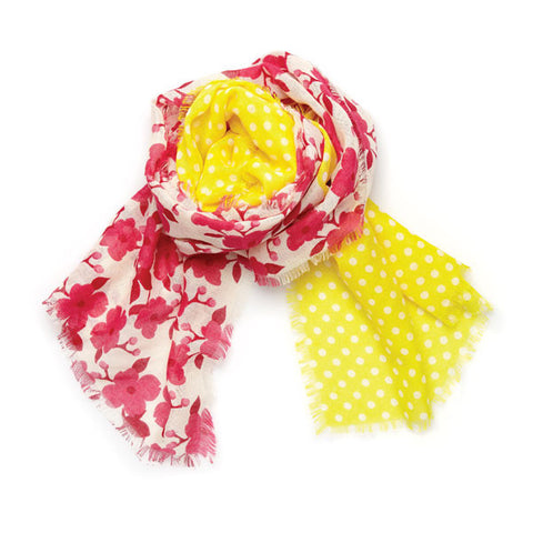 Lindsay Phillips Linden Pink Yellow Scarf