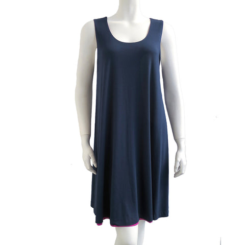 Nally & Millie Women's Reversible Tank Dress Navy/Fuschia
