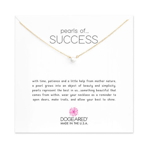 Dogeared Pearls Of Success Small Pearl Necklace Gold Filled 16""