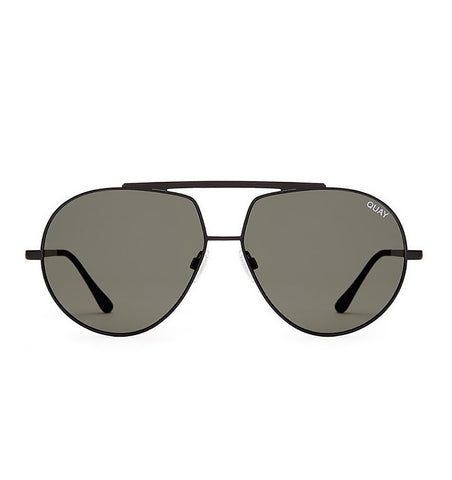 Quay Blaze Sunglasses Black/Green Lens