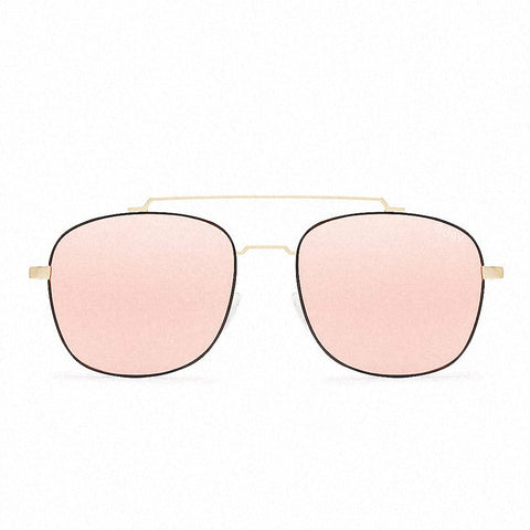 Quay Women's To Be Seen Sunglasses Gold/Pink Mirror Lens