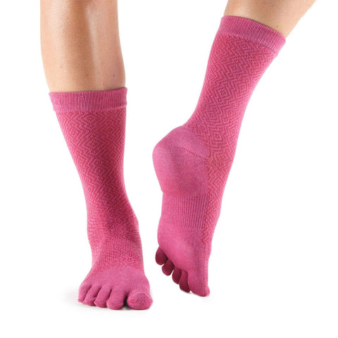 Toesox Casual Full Toe Crew Sock