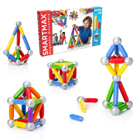 Smart Toys and Games Inc SmartMax Basic 42 Magnetic Building Pieces