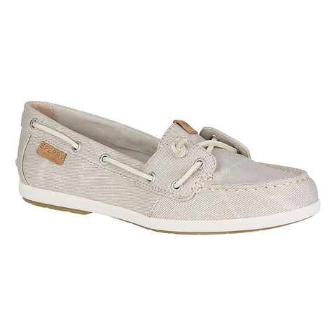 Sperry Top-Sider Women's Coil Ivy Water Canvas Boat Shoe Stone