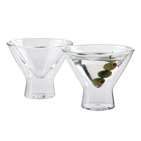 Wine Enthusiast Steady-Temp Martini Glasses Set of 4