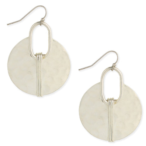 ZAD Jewelry Silver Hammered Ethnic Cresent Earrings