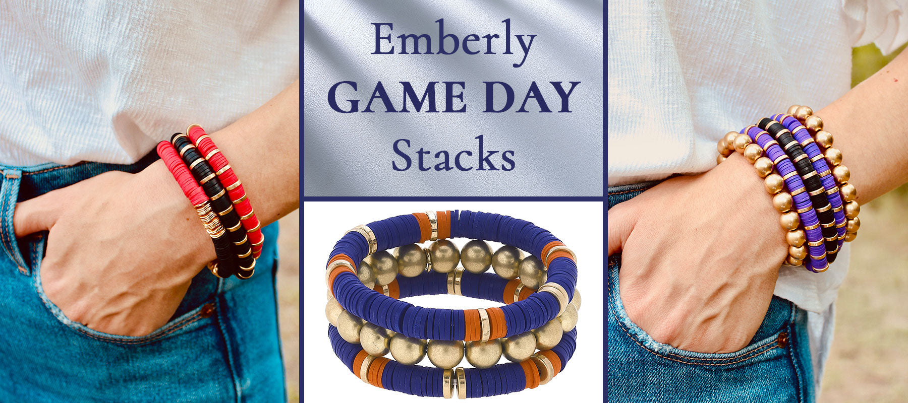Game Day & School Spirit Emberly Bracelet Stacks