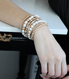 Spheres | Layered Bracelets | Pearls