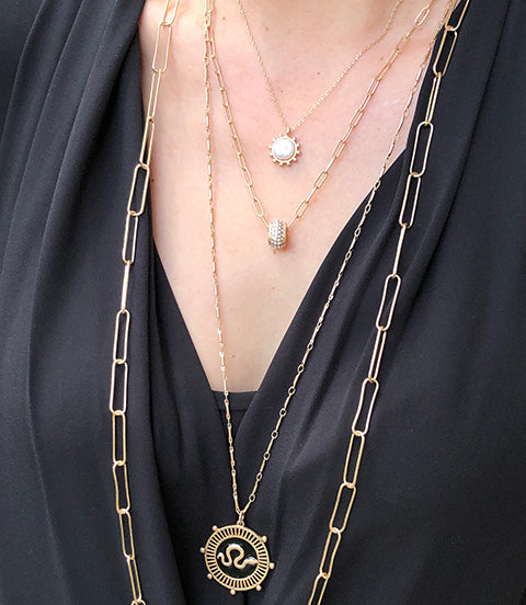 Introducing our Charming Layerables Collection, perfect for creating trendy, layered necklace looks.