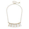 Luna Fringe Necklace in Worn Gold & Worn Silver
