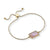 Sophia Bolo Bracelet in Pink Mother of Pearl Shell