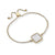Evie Bolo Bracelet in White Mother of Pearl Shell
