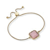 Evie Bolo Bracelet in Pink Mother of Pearl Shell