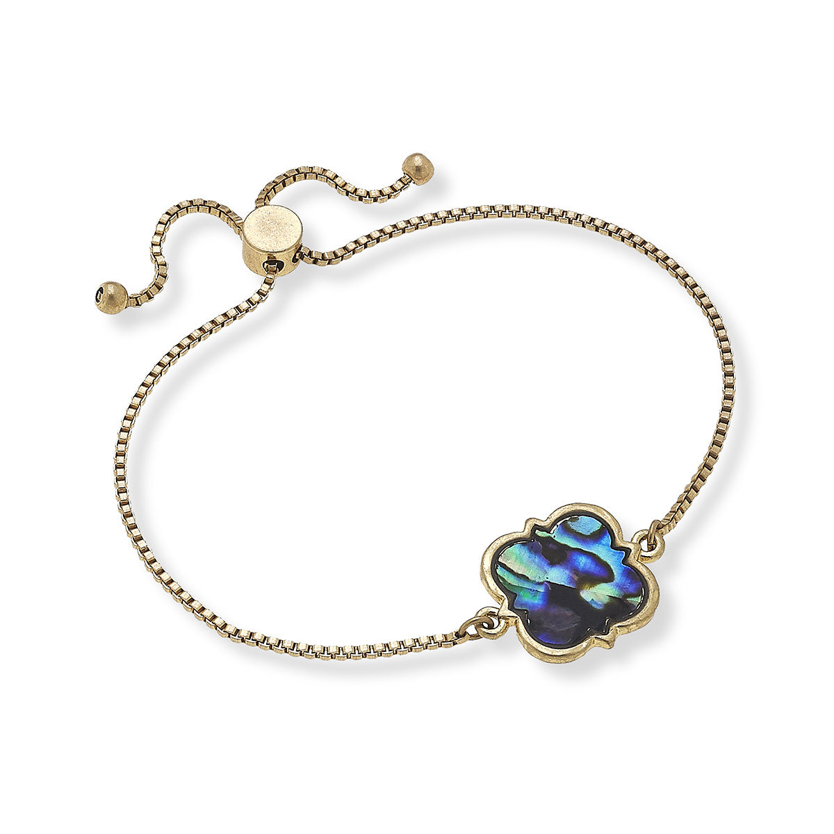 Evie Bolo Bracelet in Abalone Mother of Pearl Shell