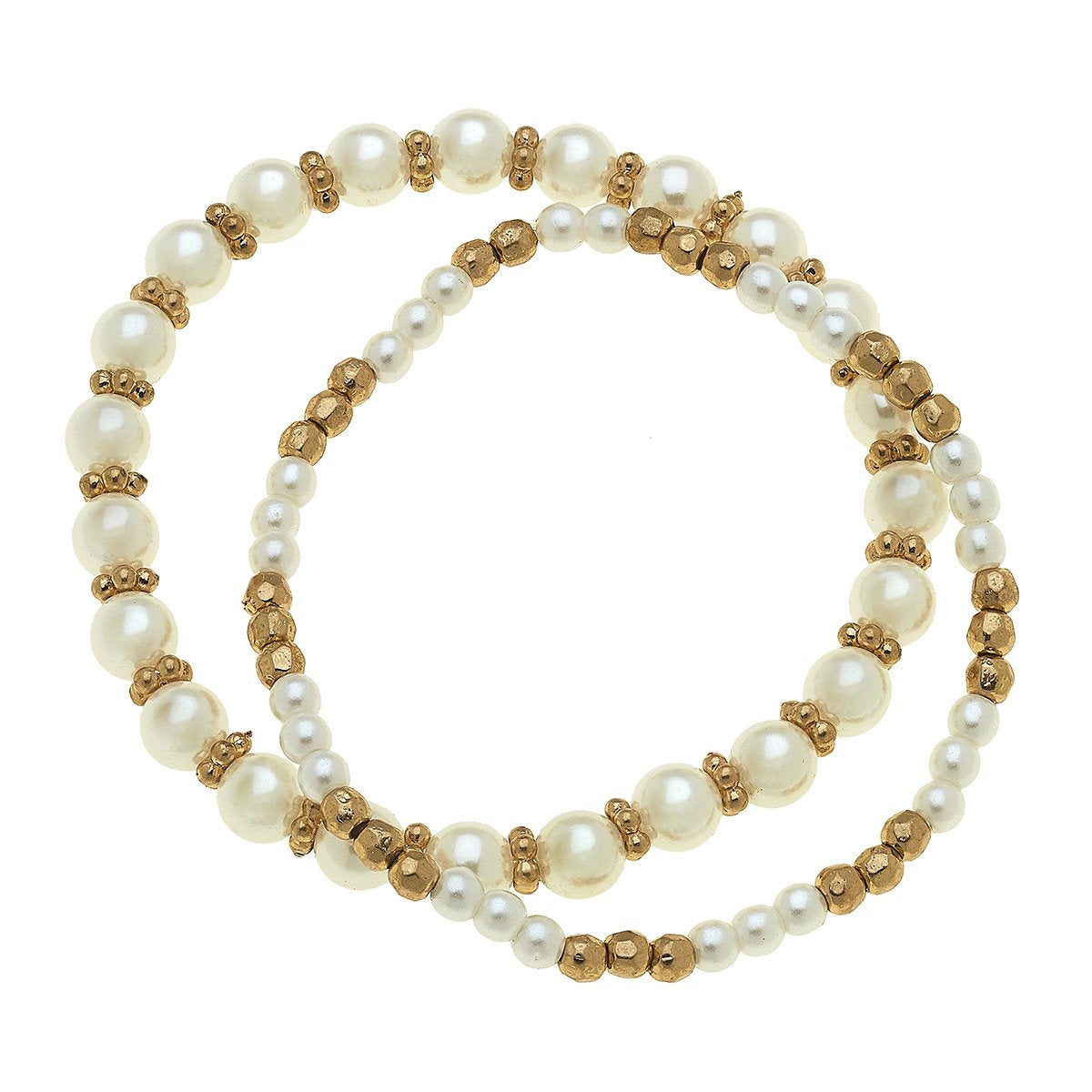 Eloise Bracelets In Ivory Pearl (Set Of 2)