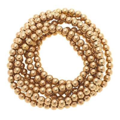 Caterina Endless Sphere Necklace Or Layered Bracelet In Worn Gold