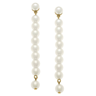 Macy Pearl Drop Earrings In Ivory