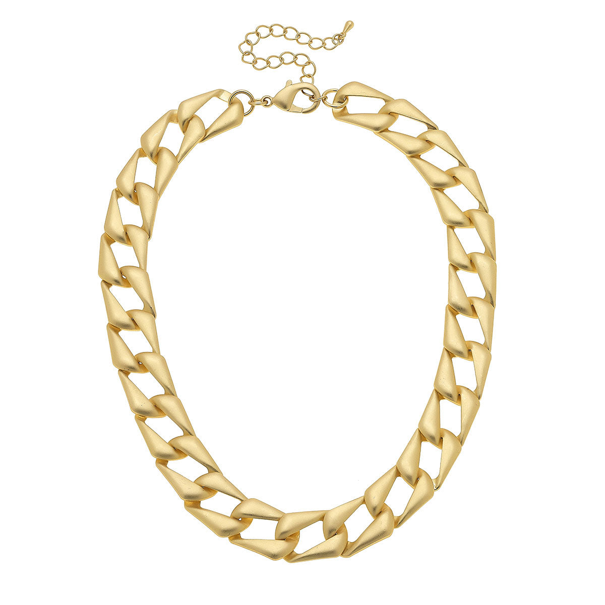 Chiara Statement Necklace in Matte Gold