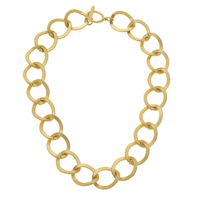 Linnea Statement Necklace in Matte Gold