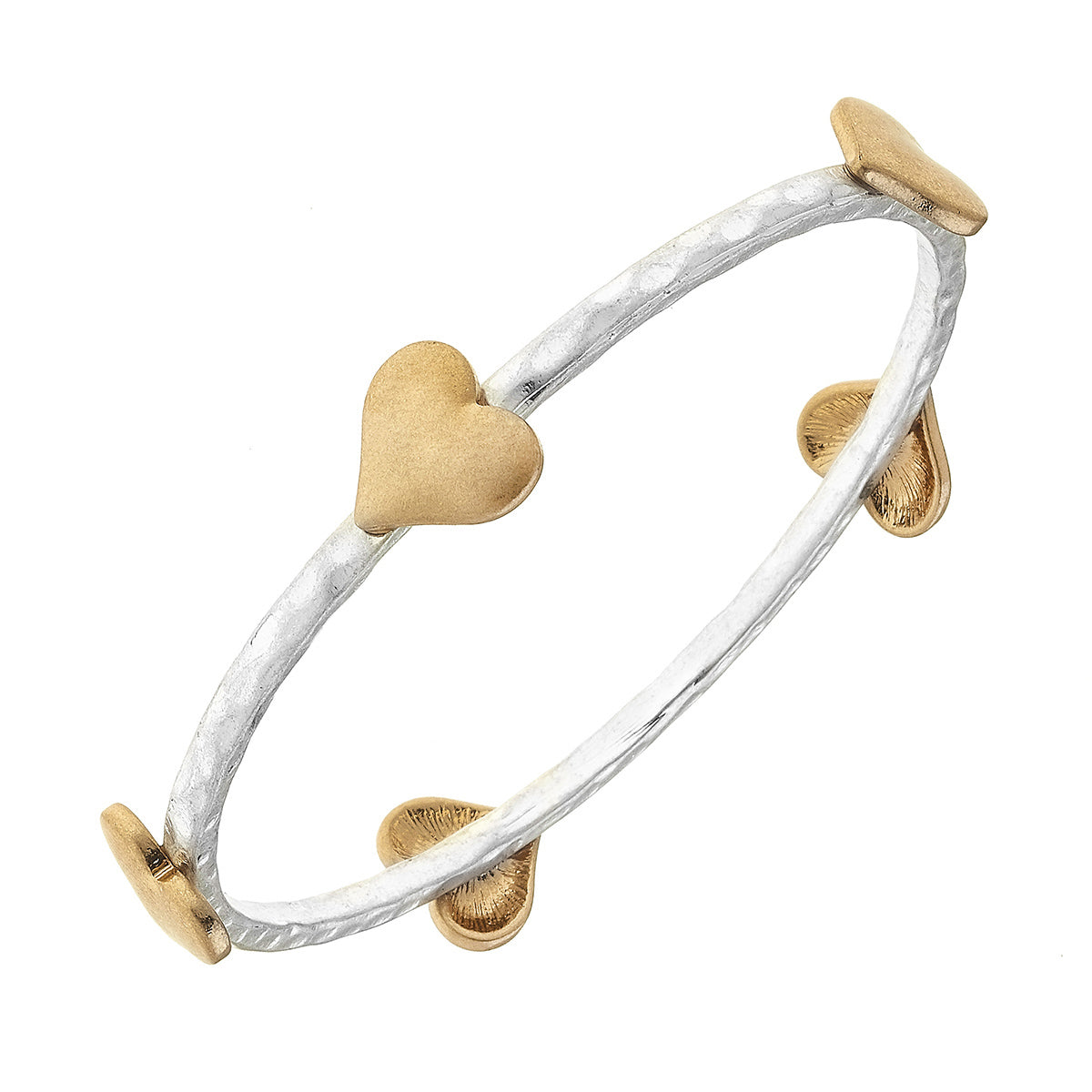 Heart Bangle in Two-Tone