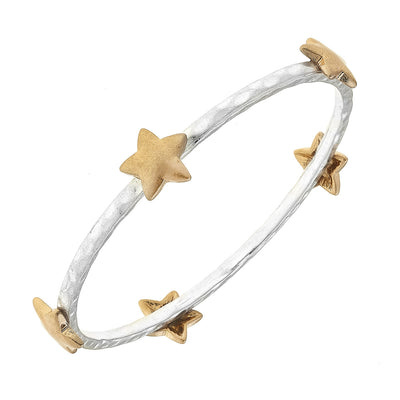 Claudia Star Bangle in Two-Tone