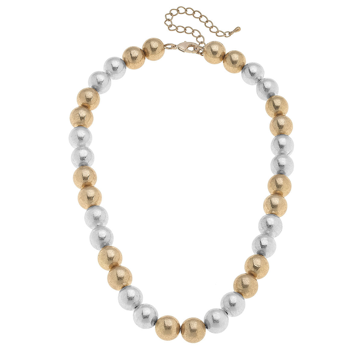 Hannah Ball Bead Necklace in Mixed Metals