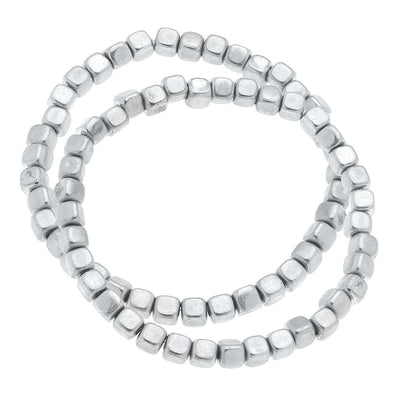 Berkley Metal Plated Bead Bracelets in Worn Silver (Set of 2)