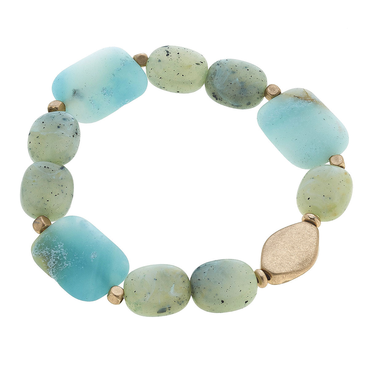 Aerin Beaded Stretch Bracelet in Amazonite