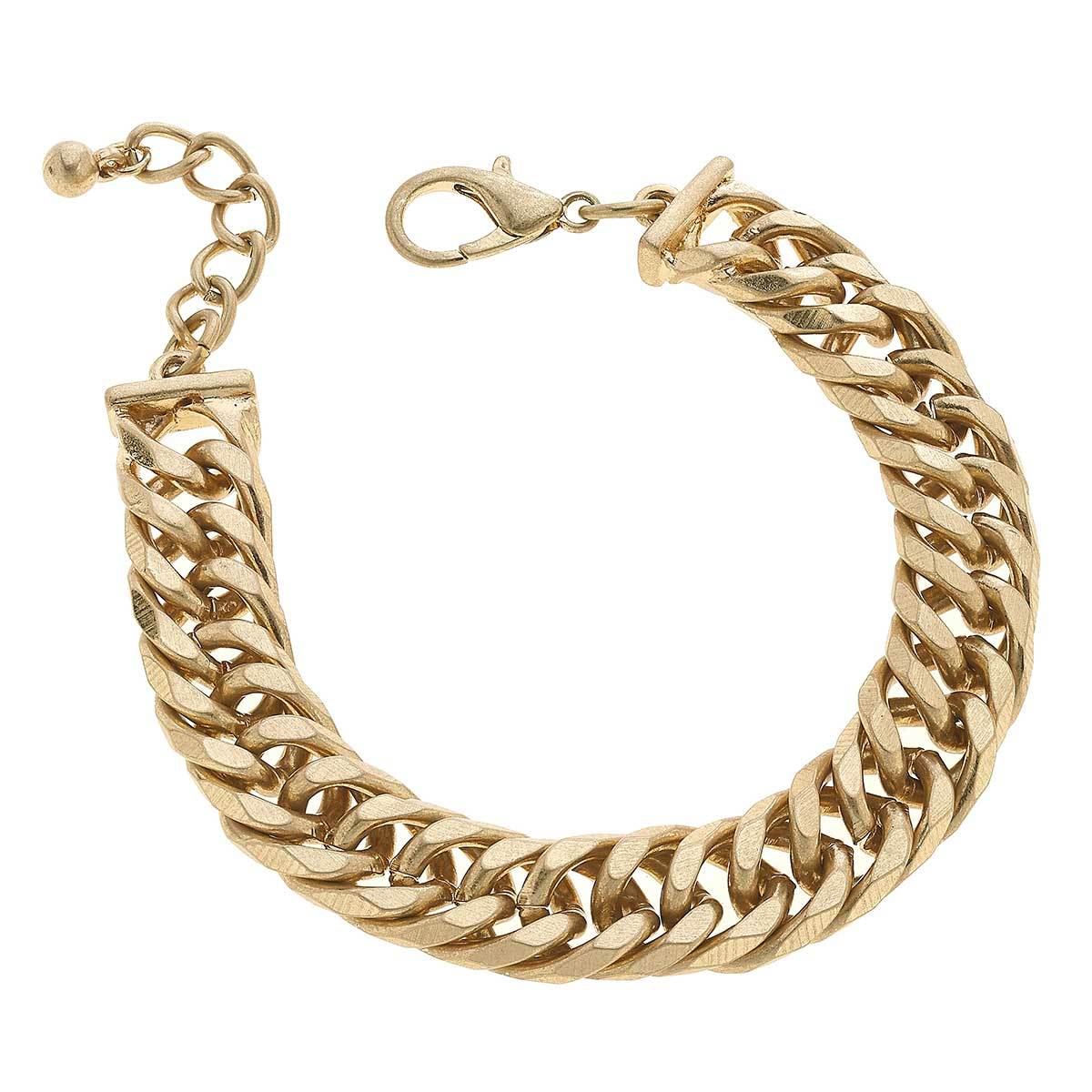 Phoenix Chunky Chain Link Bracelet in Worn Gold