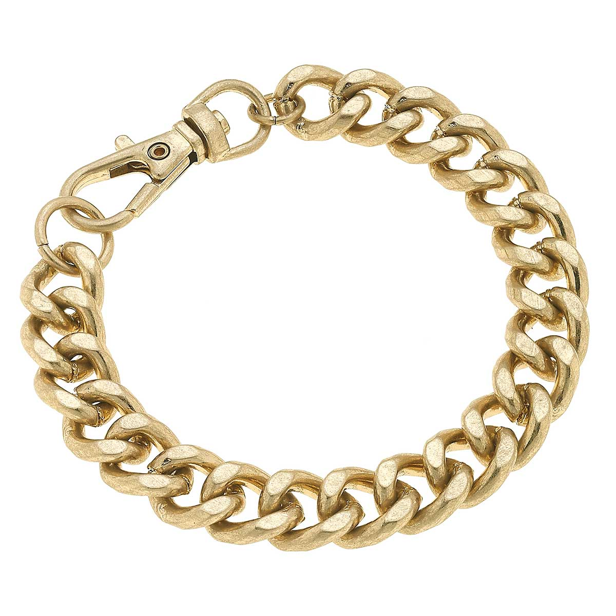 Margot Chunky Curb Chain Bracelet in Worn Gold
