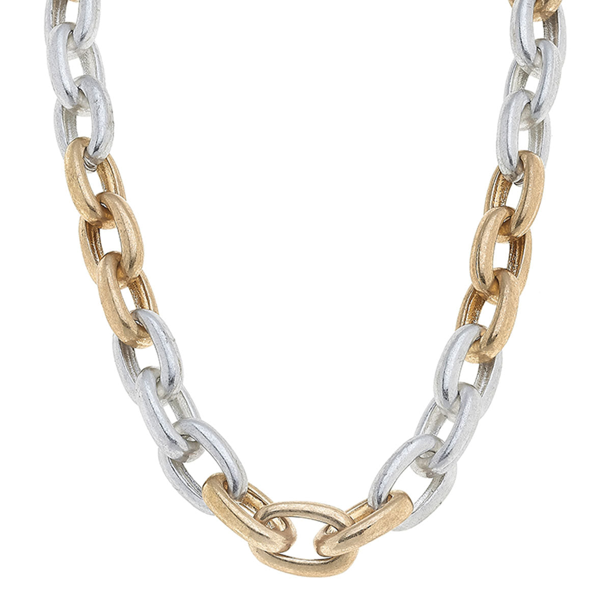 Chi Chain Link Necklace in Mixed Metals