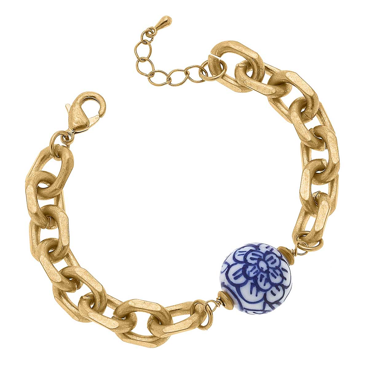 Marchesa Chinoiserie & Chunky Chain Bracelet in Blue & White
